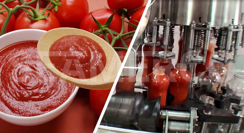 خط تولید رب گوجه فرنگی صنعتی