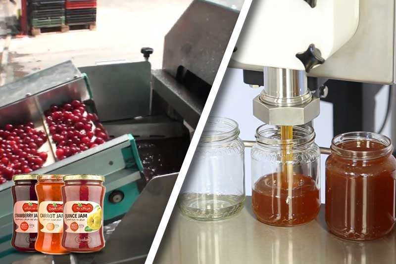خط تولید مربا،مارمالاد و عسل