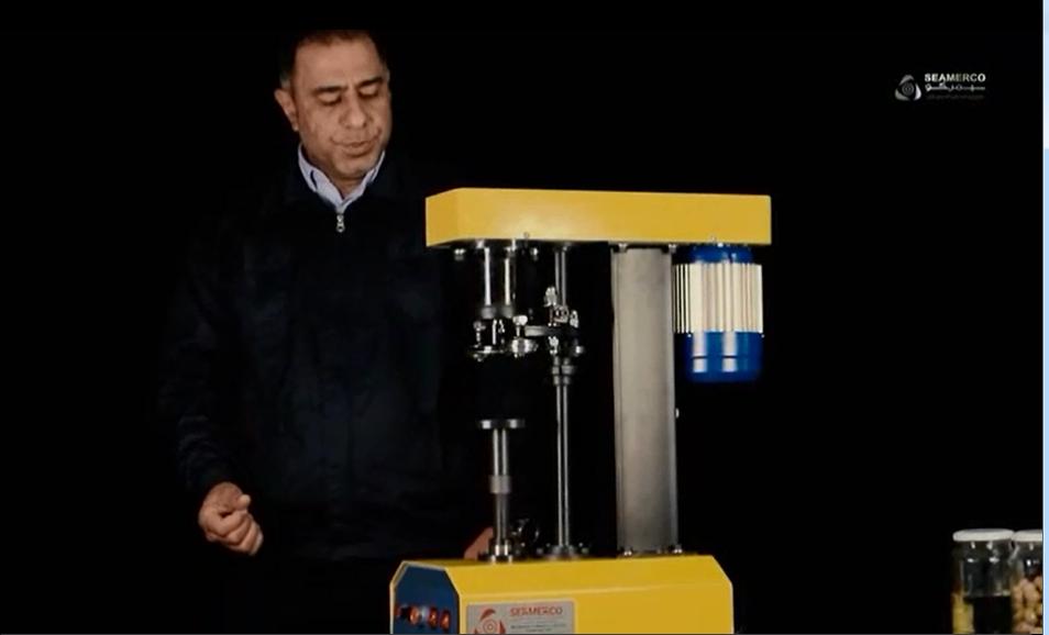 دستگاه درب بند نیمه اتومات ساخت شرکت سیمرکو