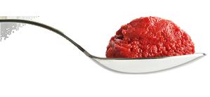 کالری موجود در یک قاشق رب گوجه فرنگی